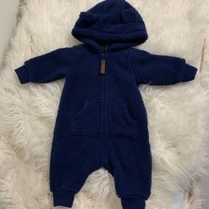 CARTERS | Newborn Teddy Car-suit/Bunting Suit